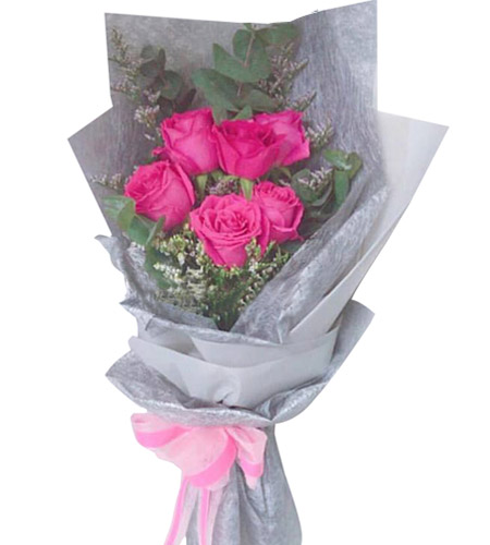 6 Pink Roses Bouquet Delivery To Philippines Philflorist Com