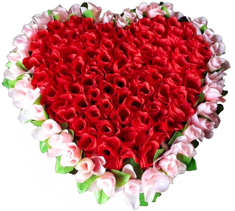 50 Red & Pink Color Heart Shaped Roses Bouquet Online to Philippines