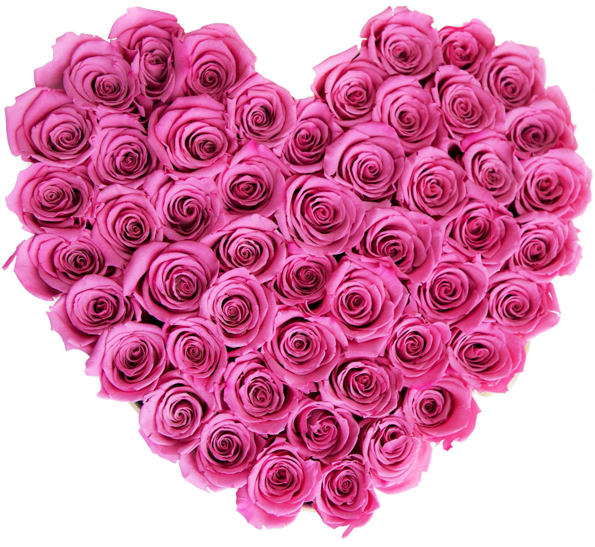 Heart Shaped 40 Stems Pink Rose Bouquet Online Order To