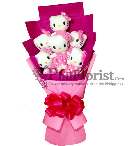 6pcs Hello Kitty Bouquet To Philippines Buy Soft Toys Hello Kitty