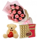 valentine bear flower with chocolates to philippines
