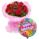 Send Anniversary Flower with Balloon to Philippines