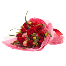 send 12 red roses bouquet to philippines