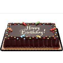 chocolate dedication cake (regular size) to philippines