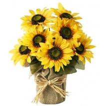 online 7 pieces sunflower bouquet to philippines