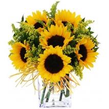 Online 6 Pieces Sunflower Vase to Philippines