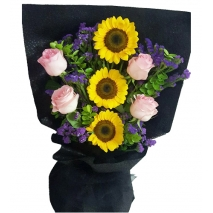 online rose and sunflower bouquet to philippines