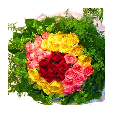 50 redyellow pink roses bouquet send to philippines philflorist 50 redyellow pink roses bouquet mightylinksfo