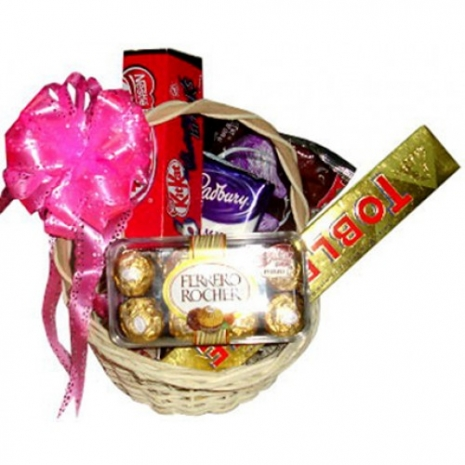 Send Assorted Chocolate Lover Basket #04 to Philippines