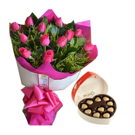 send pink roses with belgian chocolate to philippines