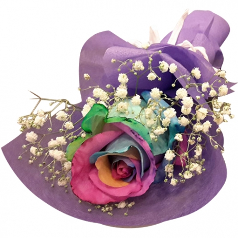 send one piece rainbow roses in bouquet to philippines