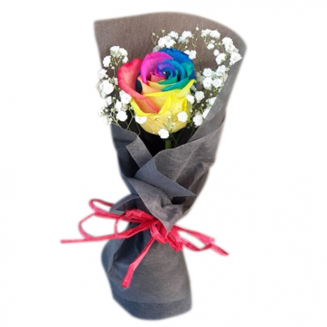 send beautiful one piece rainbow roses to philippines