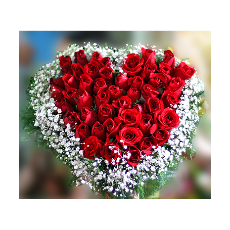 36 heart shaped red rose to philippines