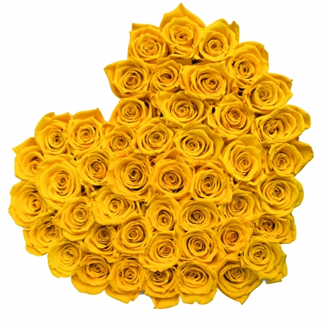 heart shaped 40 stem yellow rose to philippines
