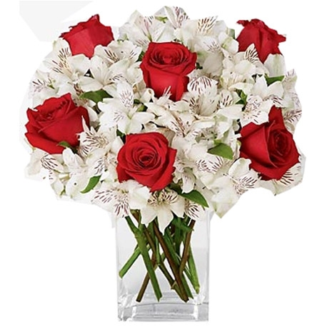 Stunning Red Rose & Calla Lily Bouquet