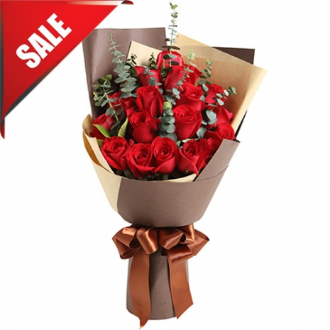 Send 12 Pcs. Red Roses in Bouquet to Philippines
