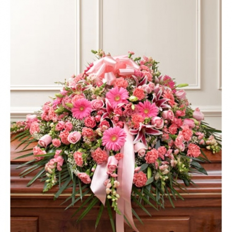 Send Lavishly Pink Casket Spray to Philippines