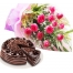 12 red roses with ultimate chocolate cake to philippines