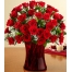 36 Red Roses in Vase with Greenery