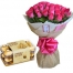 send 24 pink roses bouquet with ferrero rocher chocolate to philippines