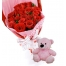 Send 24 red roses with small bear to philippines
