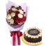 18 Red and White with Rocky Road Cake