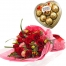 send 12 red roses with ferrero heart shape to philippines