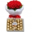 send 12 red roses with ferrero rocher to philippines