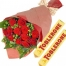 send 12 red roses with toblerone chocolate to philippines