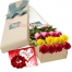 12 Mixed Roses Bouquet With Gift Card Send to Philippines