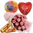 12 pink roses with toblerone and balloon to philippines