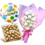 12 white roses with ferrero and balloon to philippines