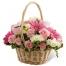 roses with seasonal flowers basket