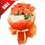 Send Valentines 12 Orange Roses Bouquet to Philippines