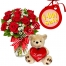 send 12 red roses in vase with bear to philippines