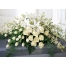Send White Tribute Casket Flowers to Philippines