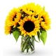 online 6 pieces seasonal sunflower vase to philippines