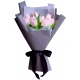 light pink tulip bouquet to philippines