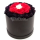 24 Black , Red and White Roses in Box