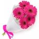 5pcs.Pink Gerberas in a Bouquet